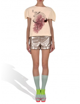 Princely Cherry Blossom Girl T-shirt in Vanilla