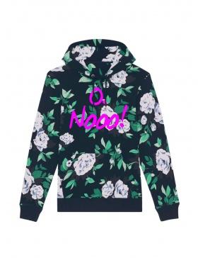 O. Nooo! Floral Hoodie