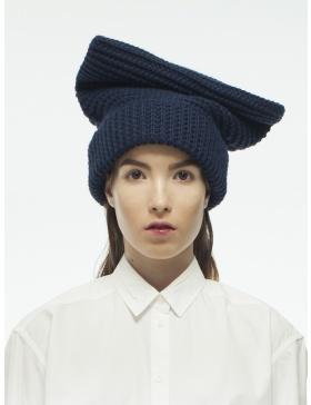 Knitted blue cap