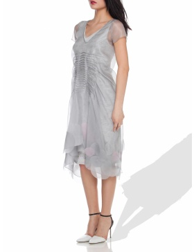 Grey organza dress