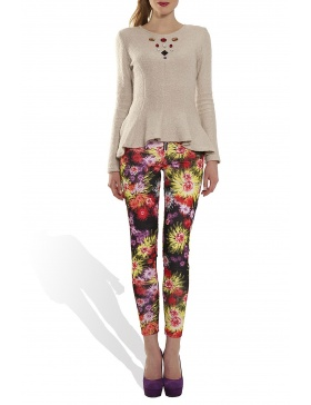 Floral patterned pants