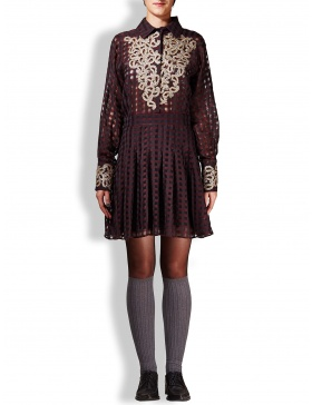 Burgundy Faliero Sarti dress