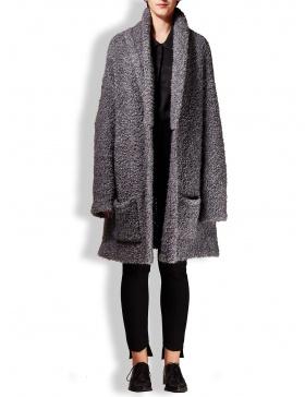 Fluffy wool cardigan