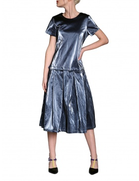 Wet look modular panel dress | Silvia Serban