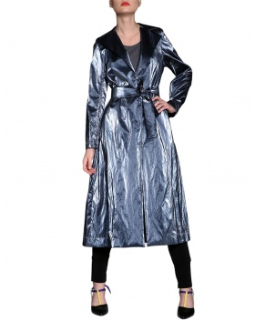 Jersey trench with adjustable sleeves | Silvia Serban