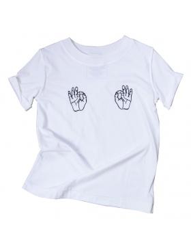 All OK T-shirt white