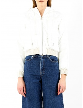 White short bomber jacket | Sandra Chira