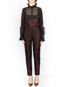 Cigarette lace pants