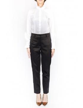 Cigarette black dotted pants