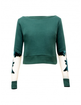 Canvas Crop Sweater