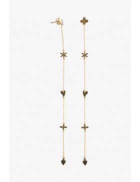 Earrings Five sinbols