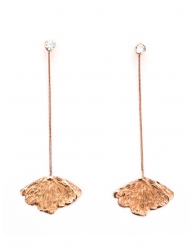 Long Gingko earrings