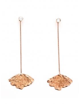 Long Gingko earrings