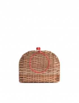 Cherry Wicker Bag Short