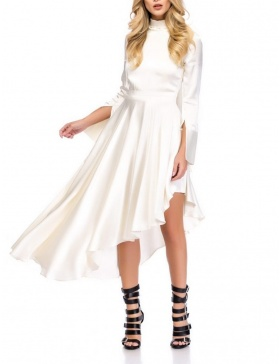 WHITE ASYMMETRICAL DRESS | Cloche