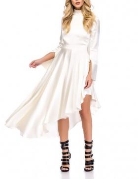 WHITE ASYMMETRICAL DRESS | Cloche