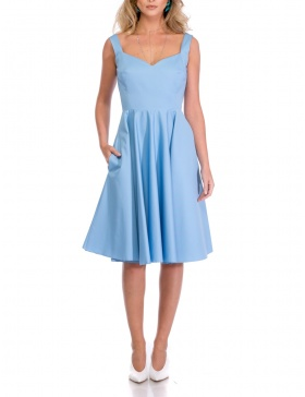 RETRO BLUE DRESS | Cloche