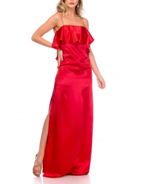 RED SILK SLIPDRESS | Cloche