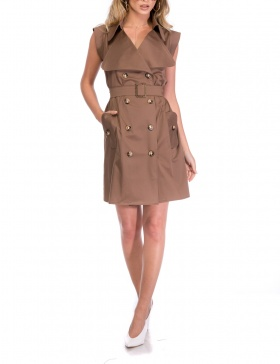 TRENCH DRESS | Cloche