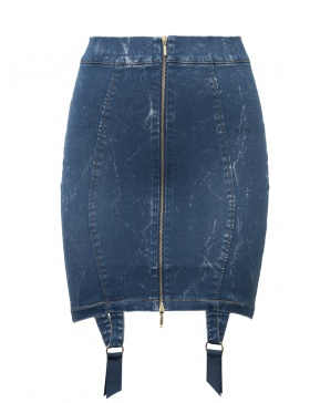 Denim Candy Skirt Blue