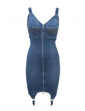 Denim Sculpt Dress Blue