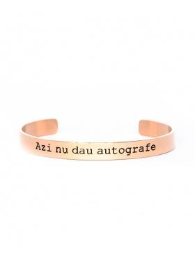 Azi nu dau autografe Rose Gold Bracelet