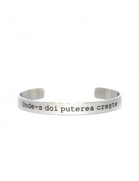 Unde-s doi puterea creste Silver Bracelet
