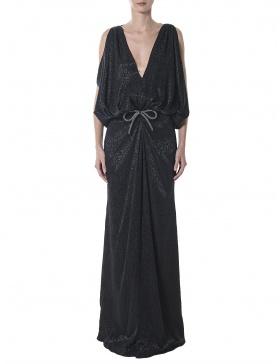 Animal print black dress