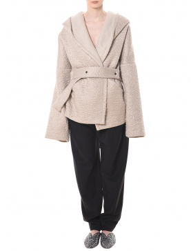 Short hooded coat