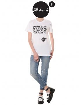 White t-shirt Molecule F