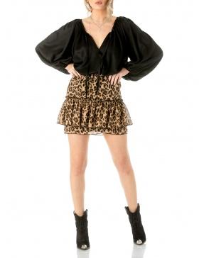 Frill mini skirt