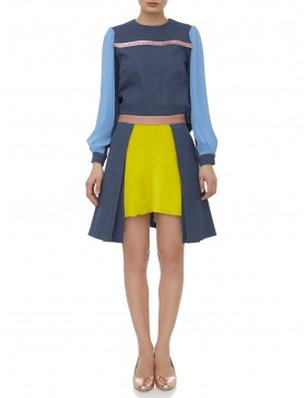 Short skirt with fur #1