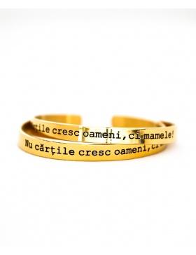 Nu cartile cresc oameni, ci mamele Gold Bracelet