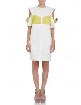 Jacket dress with cutouts sleeves