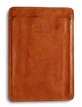 Leather iPad Air sleeve - light brown