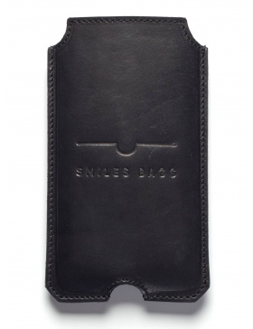 Leather iPhone 6 case - black