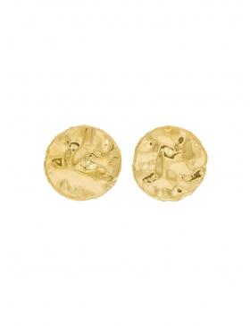 L Coin Earrings