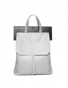 Light grey and black handbag