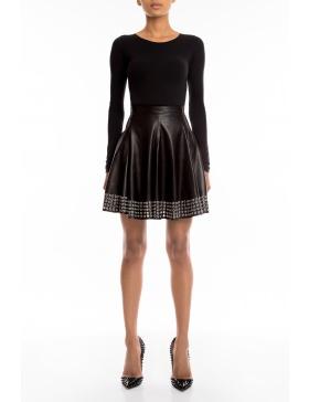 Linda leather skirt