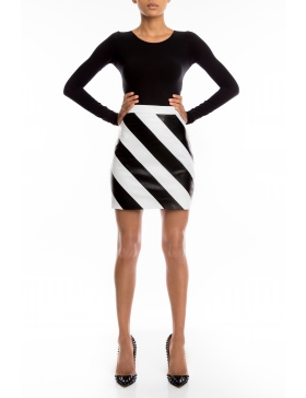 Olympia leather skirt