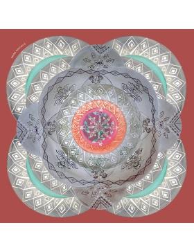 Cosmic Labyrinth Marsala scarf