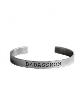 "Mood Bracelet ""BADASSMOM"" - silver"