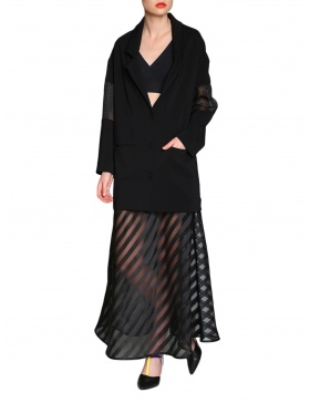 Black organza skirt | Silvia Serban