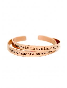 Unde dragoste nu e, nimic nu e Rose Gold Bracelet