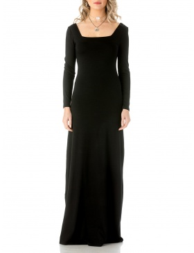 Square neckline maxi dress