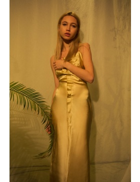 FeltCute2020 golden Silk Dress