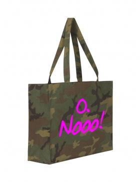 O. Nooo! Camouflage Shopping Bag
