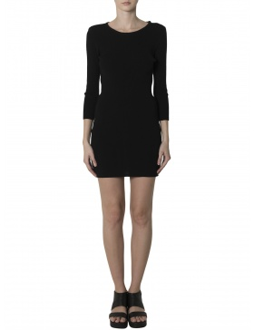 Body-con LBD with back cut-outs