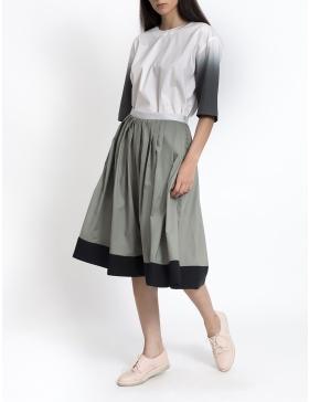 Midi khaki skirt