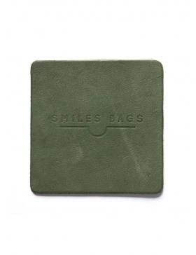 Leather mug coaster - green